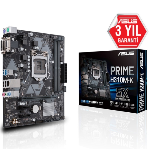 Asus PRIME H310M-K R2.0 DDR4 2666MHz S+V+GL 1151p8