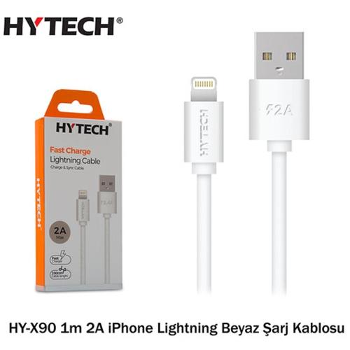 Hytech HY-X90 1m 2A iPhone Lightning Şarj Kablosu