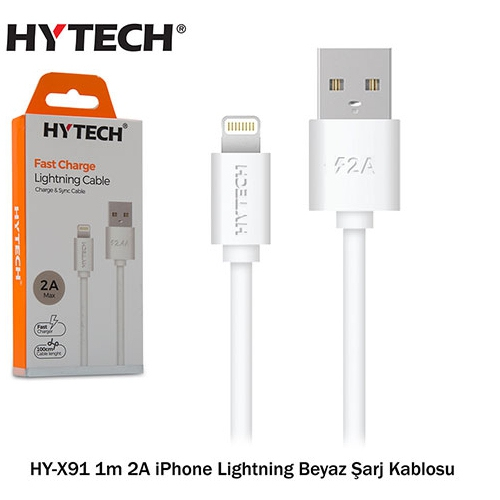 Hytech HY-X91 1m 2A iPhone Lightning Şarj Kablosu