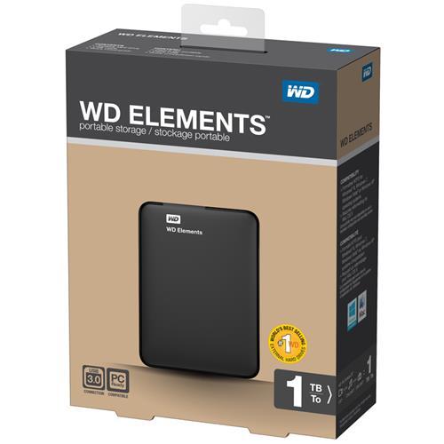 WD 2.5 1TB Elements WDBUZG0010BBK Siyah