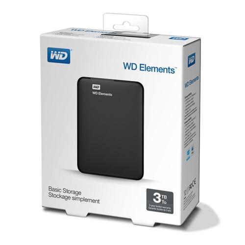 WD 2.5 3TB Elements WDBU6Y0030BBK Siyah
