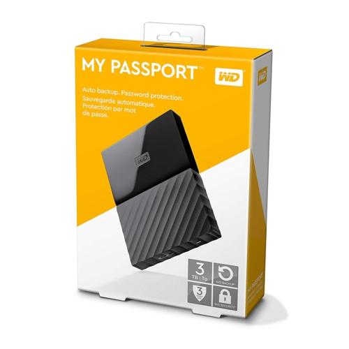 WD 2.5 3TB My Passport WDBYFT0030BBK Siyah