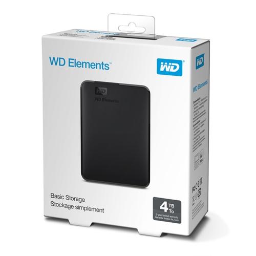 WD 2.5 4TB Elements WDBU6Y0040BBK Siyah