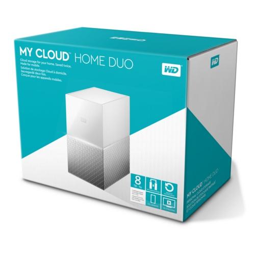 WD 3,5 8TB My Cloud Home Duo WDBMUT0080JWT Beyaz