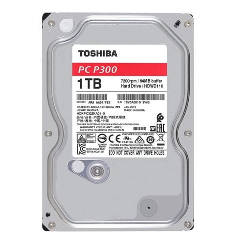 Toshiba 3,5 P300 1TB 64MB 7200RPM HDWD110UZSVA