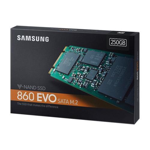 Samsung 860 EVO 250GB SSD m.2 Sata MZ-N6E250BW