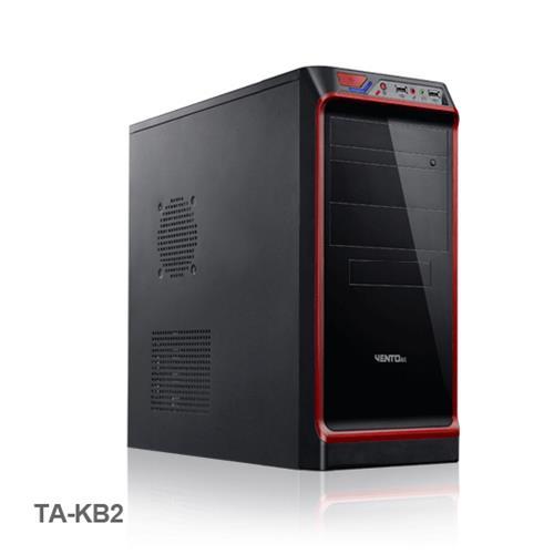 Vento TA-KB2 350W Mid Tower Kasa Siyah-Kırmızı