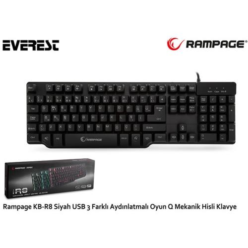 Everest Rampage KB-R8 Usb Klavye Siyah