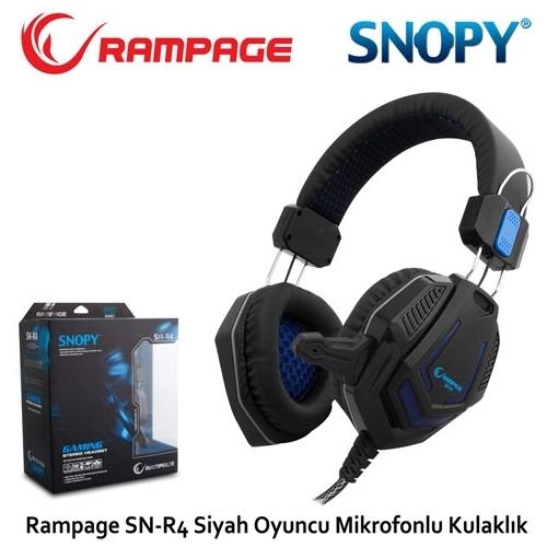 Snopy Rampage SN-R4 Mikrofonlu Kulaklık Siyah