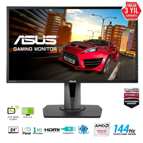 Asus 24 MG248QR MM Gaming Monitör Siyah 1ms