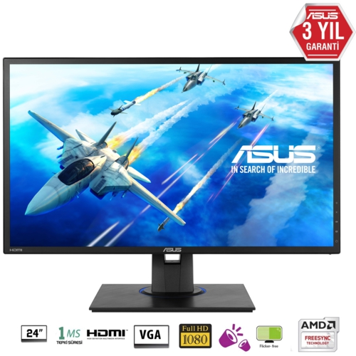 Asus 24 VG245HE LED MM Monitör Siyah 1ms