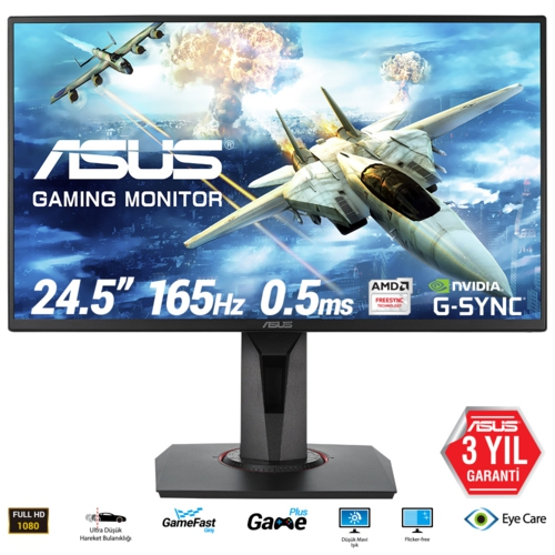 Asus 24.5 VG258QR LED Gaming MM Monitör Syh 0.5ms