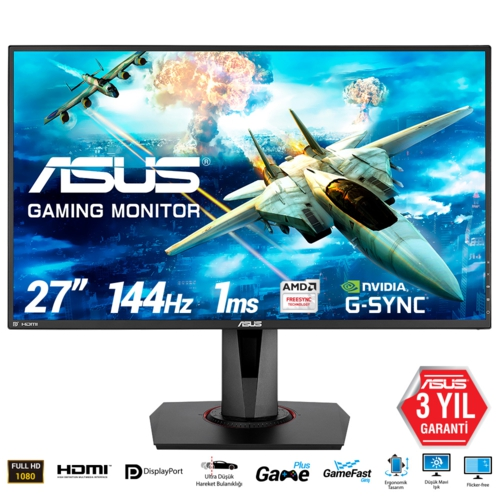 Asus 27 VG278Q LED Gaming Monitör 1ms Syh