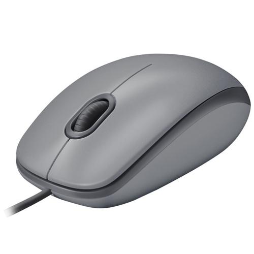Logitech M110 Silent Mouse Usb Mid Gray 910-005490