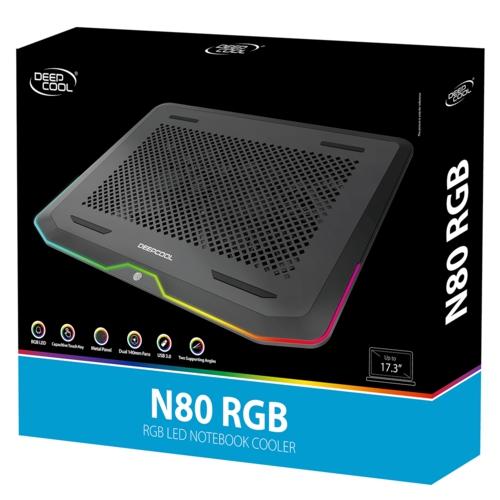 Deep Cool N80 RGB 17,3'' Ntb Soğutucu Siyah