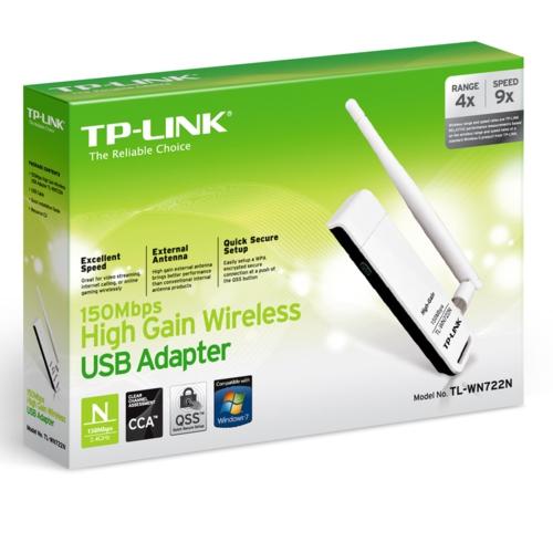 TP-Link TL-WN722N 150Mbps Wi-Fi Lite-N USB Adaptör