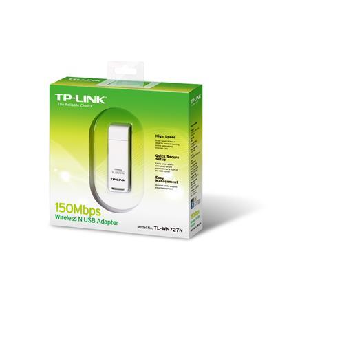 TP-Link TL-WN727N 150Mbps Wi-Fi Lite-N USB Adaptör