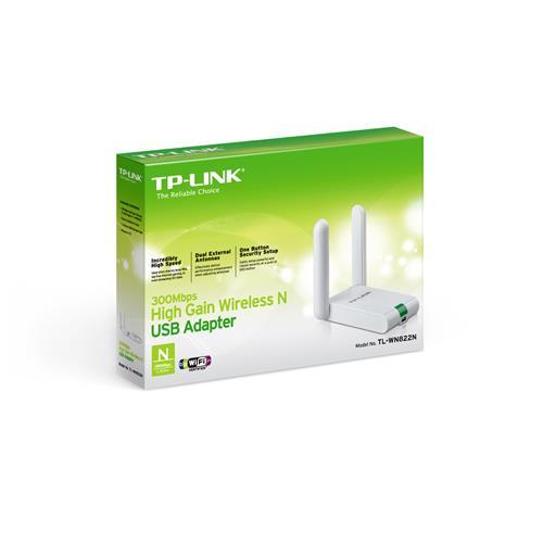 TP-Link TL-WN822N 300Mbps Wi-Fi 2x3dBi USB Adaptör