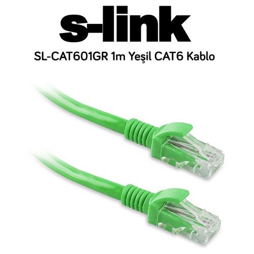 S-link SL-CAT601GR CAT6 Patch Kablo 1m Yeşil