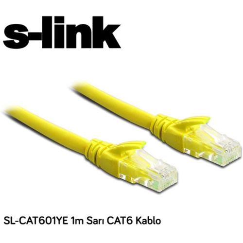 S-link SL-CAT601YE CAT6 Patch Kablo 1m Sarı