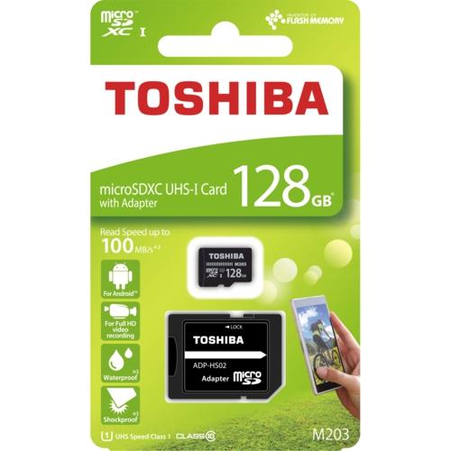 Toshiba 128GB Micro SDHC UHS-1 C10 THN-M203K1280EA