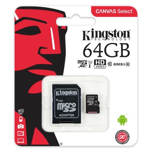 Kingston 64GB Micro SDHC UHS-1 CL10 SDCS/64GB