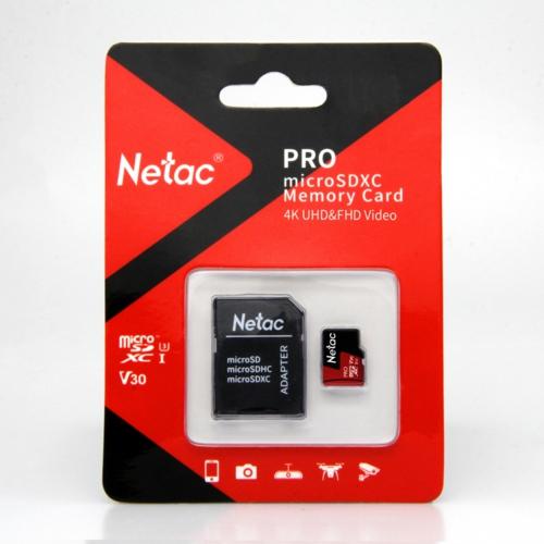 Netac 256G MicroSDXC V30/A1/C10 NT02P500PRO-256G-R