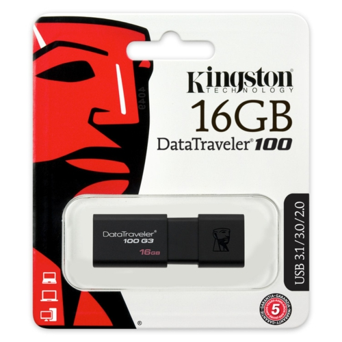 Kingston 16GB USB3.0 Memory DT100G3/16GB Siyah