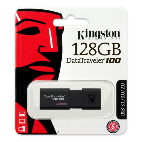Kingston 128GB USB3.0 Memory DT100G3/128GB Siyah