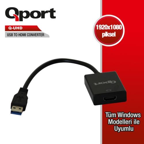 Qport Q-UHD USB 3.0 To Hdmi Çevirici