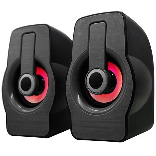 Snopy SN-X23 RGB Işıklı 3W*2 Syh/Krmz USB Speaker