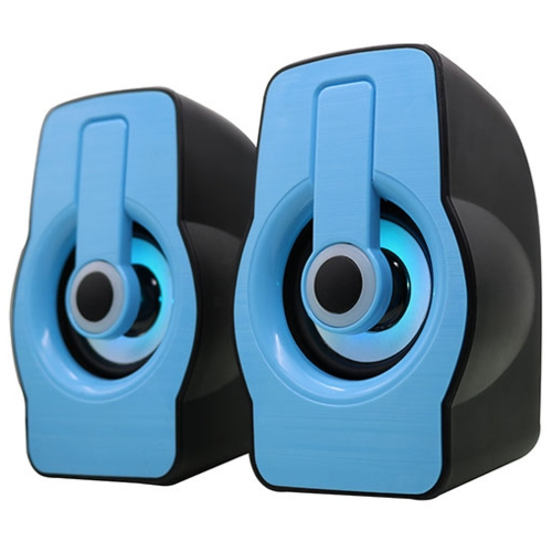 Snopy SN-X23 RGB Işıklı 3W*2 Siyah/Mavi USB Speake
