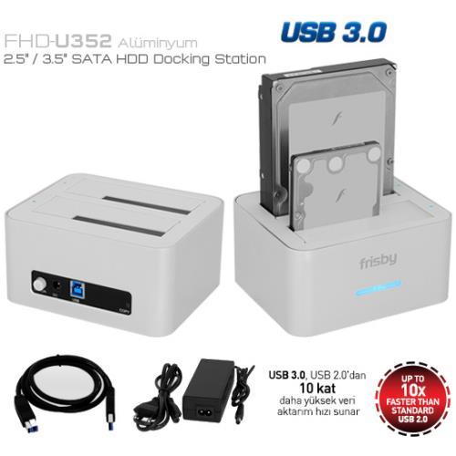 Frisby FHD-U352S 2,5-3,5 USB 3.0 Docking Station