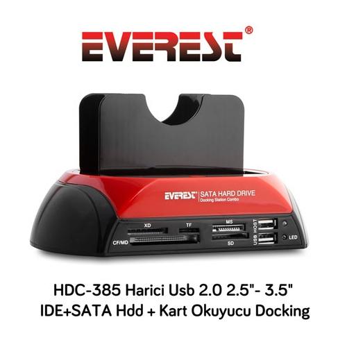 Everest HDC-385 Usb 2.0 2.5- 3.5 Hdd Docking