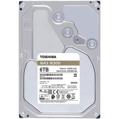 Toshiba 3,5 N300 6TB 128MB 7200RPM HDWG160UZSVA
