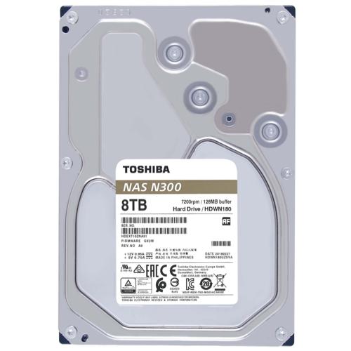 Toshiba 3,5 N300 8TB 128MB 7200RPM HDWG180UZSVA