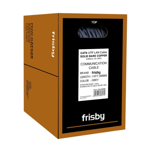 Frisby FNW-CAT628 24AWG 305m UTP Saf Bakır Kablo