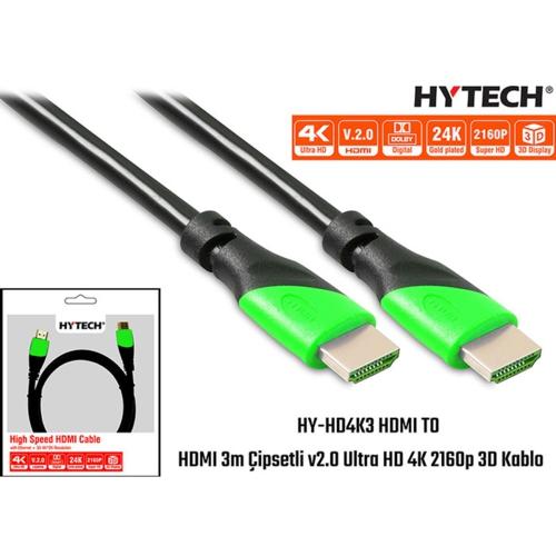 Hytech HY-HD4K3 HDMI TO HDMI 3m kablo