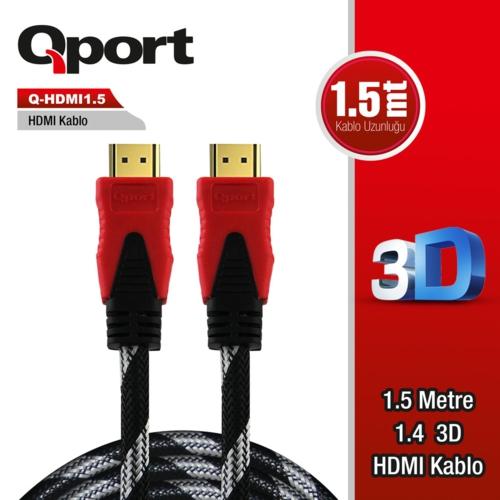 Qport Q-HDMI1.5 1,5m Hdmi Kablo